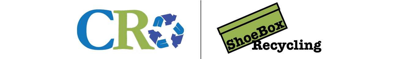 Community Recycling and ShoeBox Recycling Logos